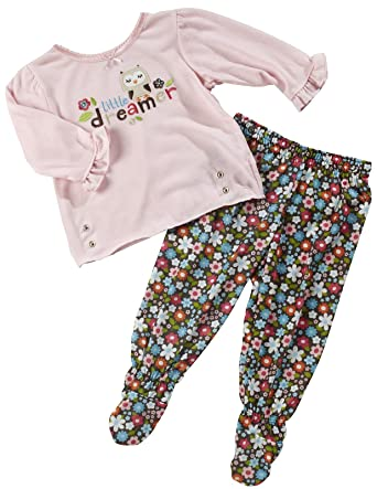 1508f0a74 Amazon.com  Carter s Floral Owl Snap-Waist Footed Pajamas  Clothing