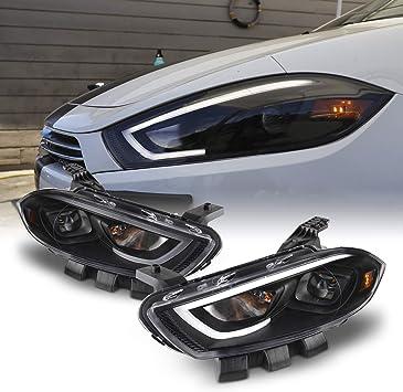 dodge dart headlights Amazon.com: Fits 1-1 Dodge Dart Projector Headlights LED