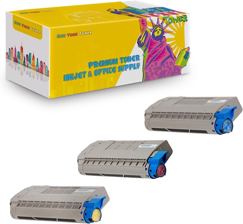 NYT Compatible High Yield Toner Cartridge Replacement for TFC-34UC TFC-34UM TFC-34UY for Toshiba E-Studio 287CS 347CS 287CSL 407CS 347CSL Cyan, Magenta, Yellow, 3-Pack
