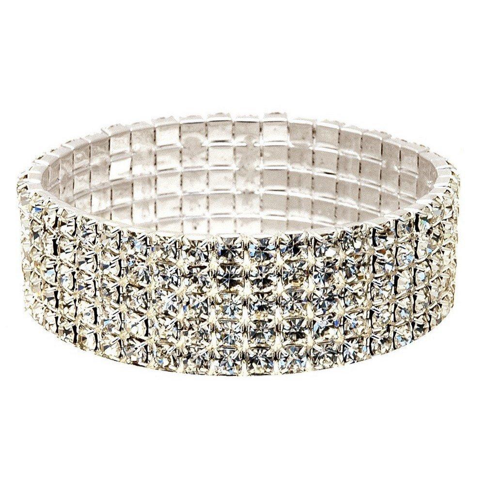 Joe Cool Bracelet Stretch 5 Row Made with Crystal Glass