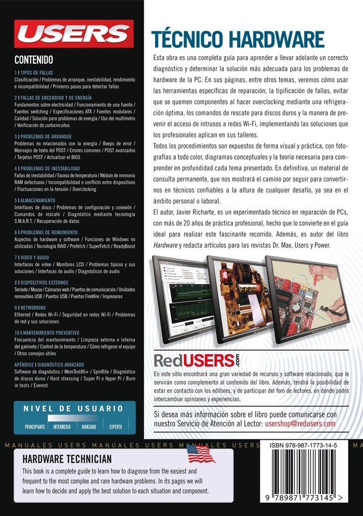 Tecnico Hardware: Manuales Users (Spanish Edition): Javier Richarte, RedUsers Usershop, Español Espanol Espaniol, Libro libros Manual computación computer ...
