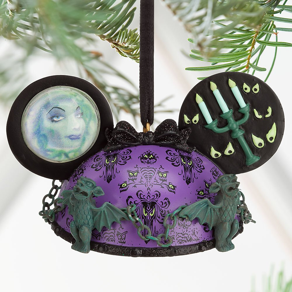Disney The Haunted Mansion Ear Hat Ornament Purple