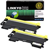 LINKYO Compatible Toner Cartridge Replacement for Brother TN450 TN-450 TN420 (Black, High Yield, 2-Pack)