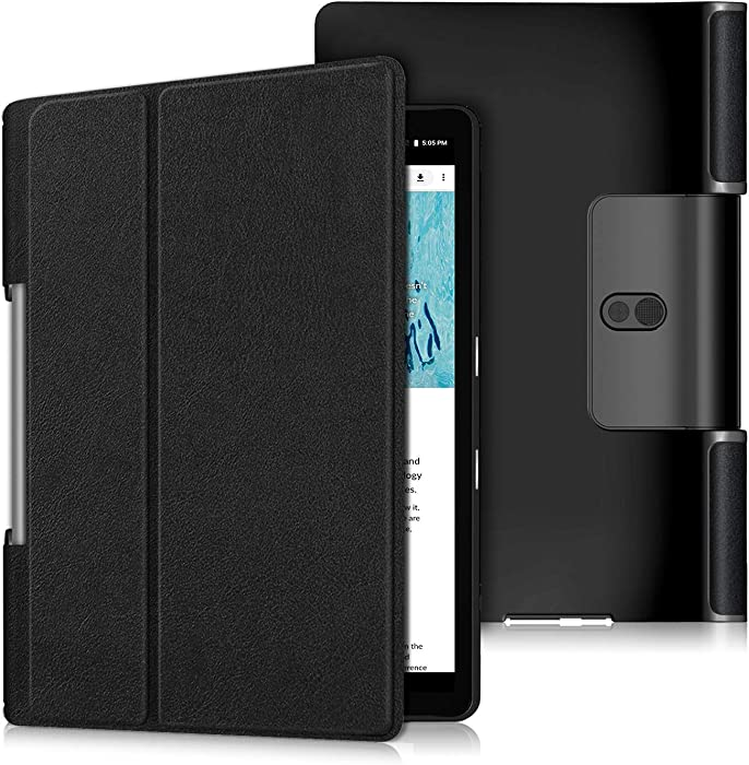 Gylint Case for Lenovo Yoga Smart Tab 10.1 (YT-X705F), Lightweight Protective Slim Smart Cover Case for Lenovo Yoga Smart Tab 10.1 (YT-X705F) Tablet Black