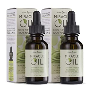 Earthly Body Miracle Oil, 1 fl. oz. - 2 Pack - 100% Natural Tea Tree Oil, Hemp Seed Oil & Vitamin E - Moisturizer, Calms Skin Irritations, Helps Smooth Wrinkles - Gluten Free, 100% Vegan