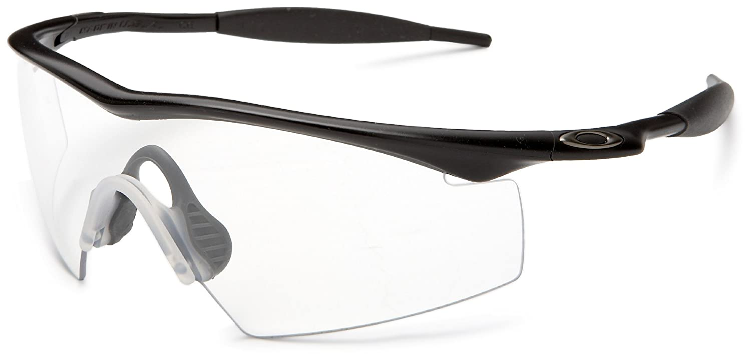 36e1f000beb Amazon.com  Oakley Mens Industrial M Frame Sport Designer Sunglasses -  Black Clear One Size Fits All  Clothing
