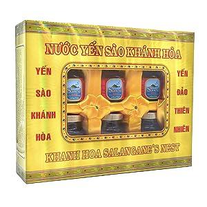 Sanest Bird's Nest Essence - Natural Immune System Booster, Improves Brain Function, Skin & Bone Regeneration - Yến Sào - 100% Natural - 6-Pack Gift Box