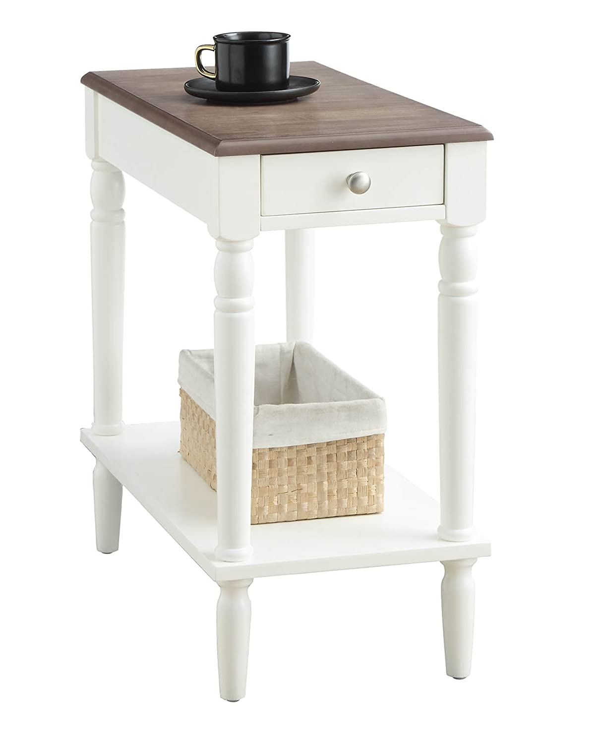 Convenience Concepts 6053210DFTW Chairside Table, Driftwood White