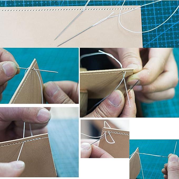 Piel aguja de coser, agujas de tapicería vencink costuras Sail ...