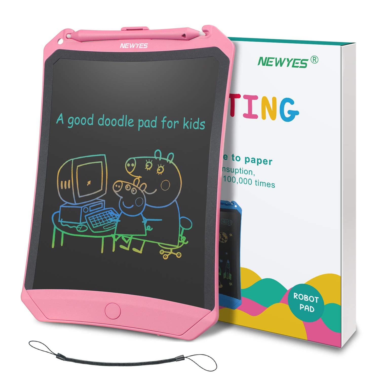 NEWYES Tablette d/écriture LCD Color/é Robot Rose et Lignes color/ées 8.5 Pouces de Longueur Diff/érentes Couleurs