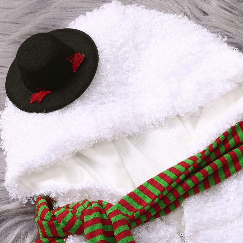 Bufandas Beb/és Reci/én Nacidos Ni/ño ni/ñas Sudadera con Capucha Mono Ni/ñas Beb/és Ropa MEIbax Oto/ño e Invierno Navidad Moda Mantener Caliente Felpa Mameluco