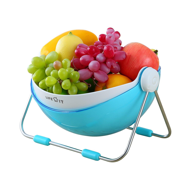 Amazon.com | Lifewit Fruit Bowl Vegetable Washing Draining Basket ...