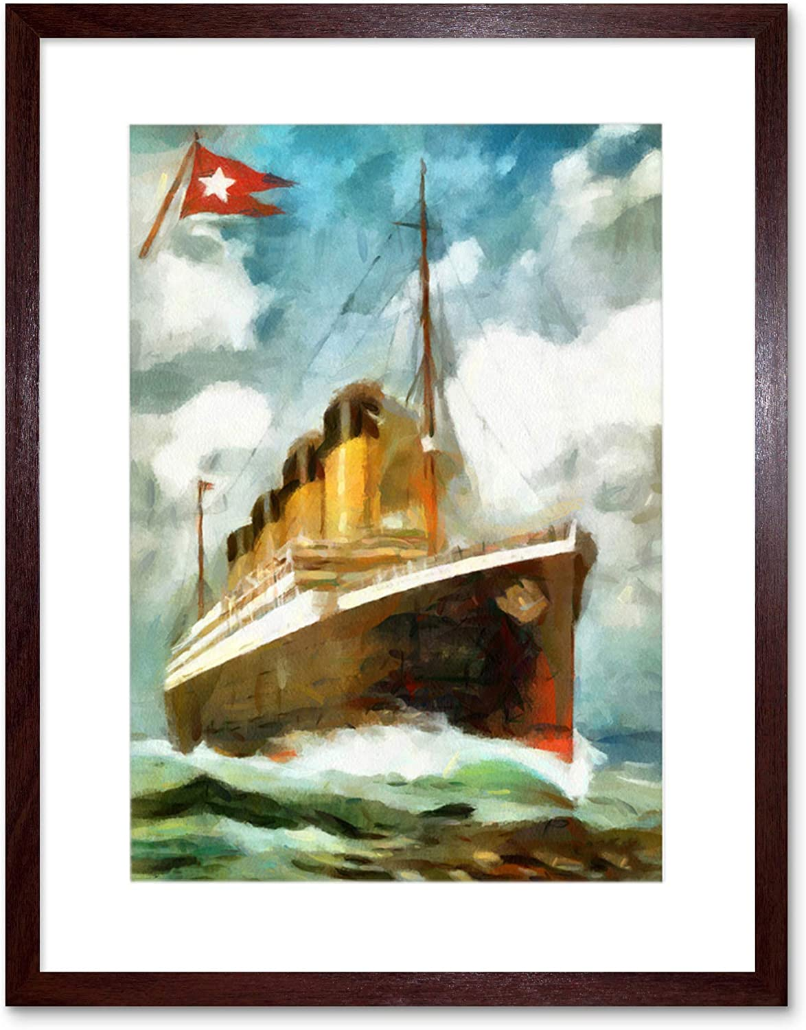 Framed Picture Print Wall Art Titanic 30x20 Inch Canvas