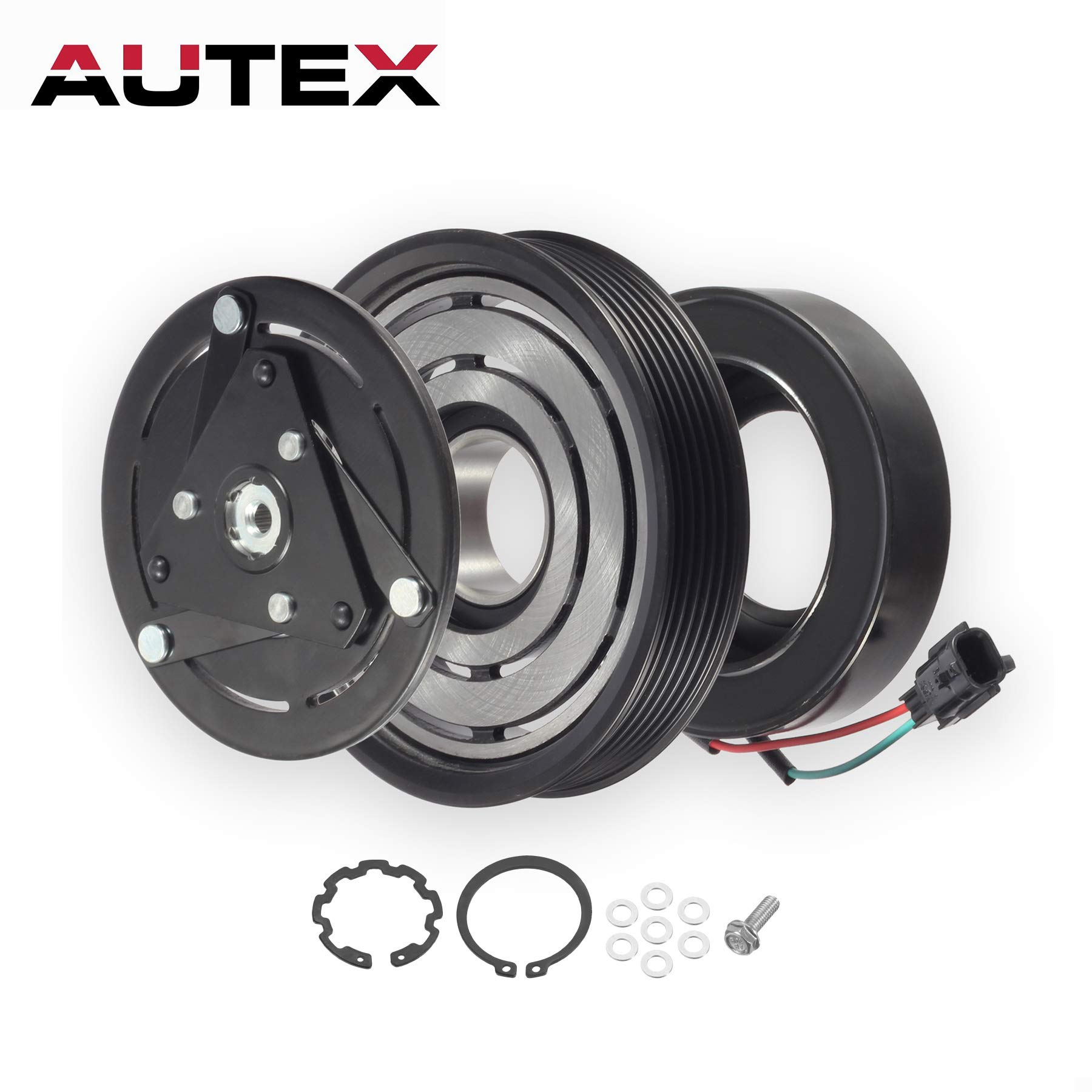 AUTEX AC A/C Compressor Clutch Coil Assembly Kit 92600JA00A Replacement for NISSAN ALTIMA 2007 2008 2009 2010 2011 2012 4CYL 2.5L/compatible with Nissan Sentra 2007 2008 2009 2010 2011 2012 4CYL 2.5L