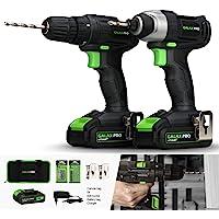 GALAX PRO-Kit Combinado Taladro Atornillador, Atornillador Impacto, 20V
