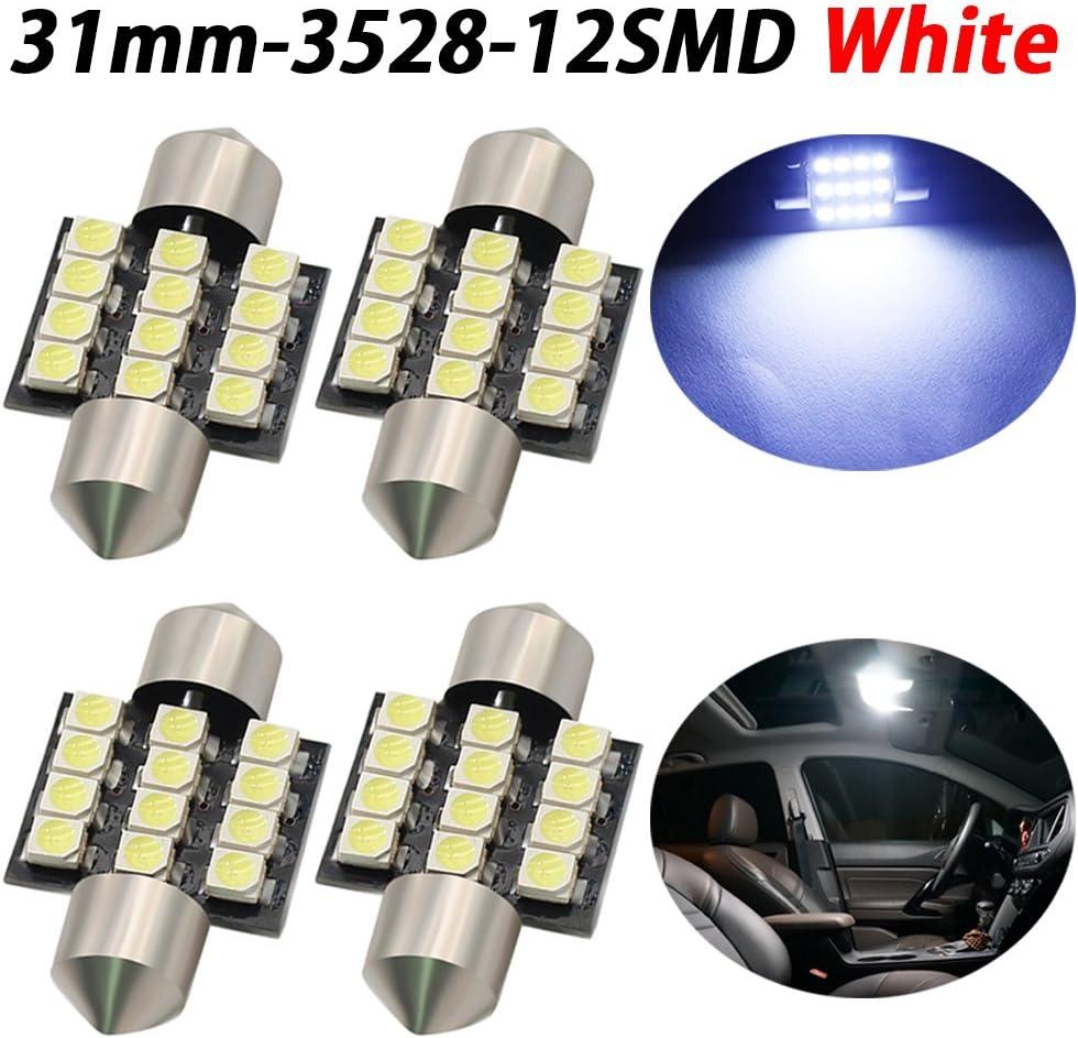 TABEN estremamente luminoso 3528/chipset 3,2/cm 31/mm DE3175/DE3021/DE3022/6428/7065/LED festone auto porte interne mappa cupola luci bianco 12/V pezzi