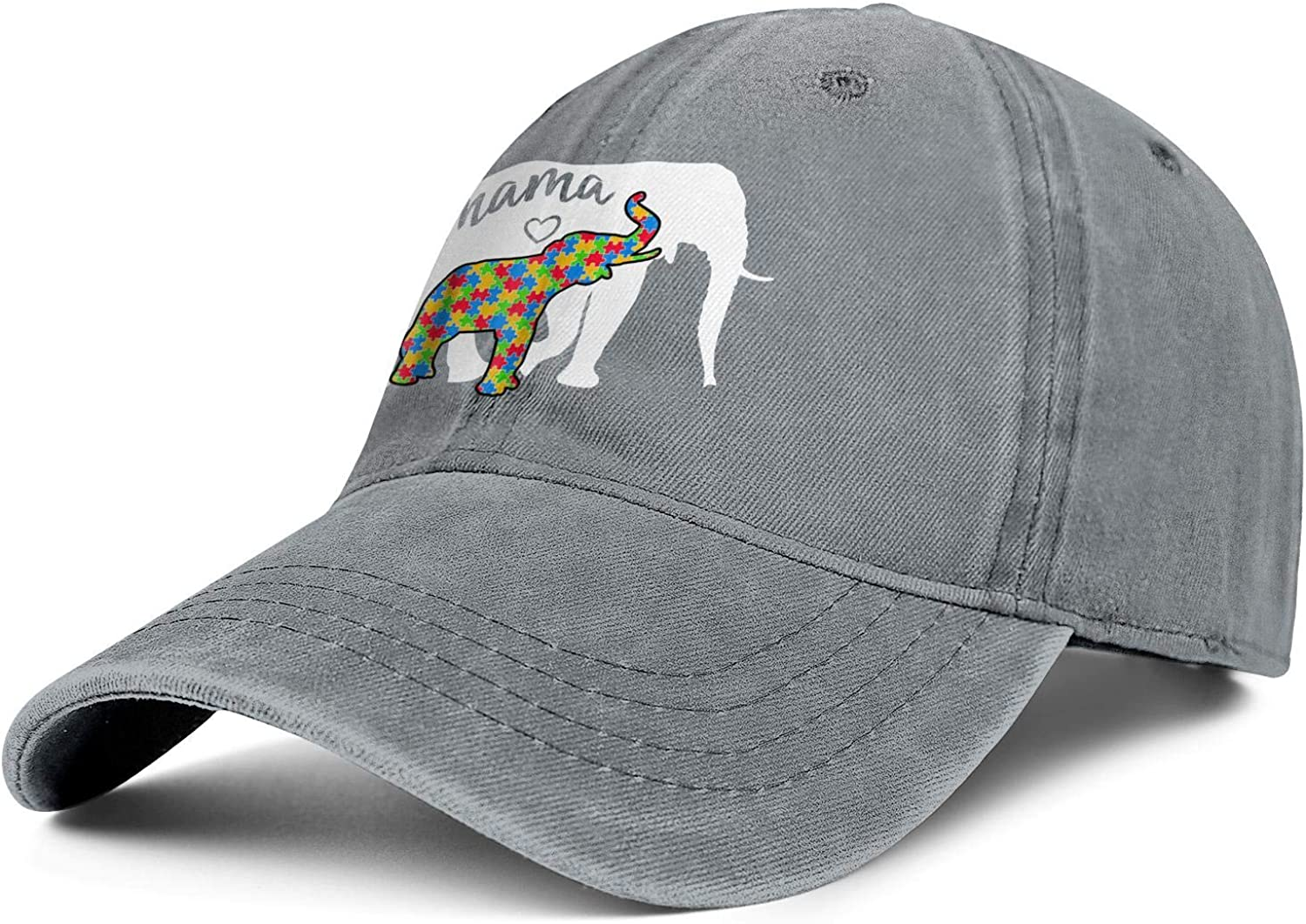 World Autism Awareness Day Mama Elephant Unisex Baseball Cap Soft Fit Running Hats Adjustable Trucker Caps Dad-Hat