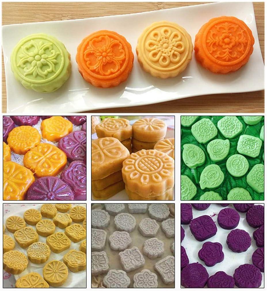 Kitchen & Dining Bakeware Yajom Mooncake Mold Wooden 3D Flower ...