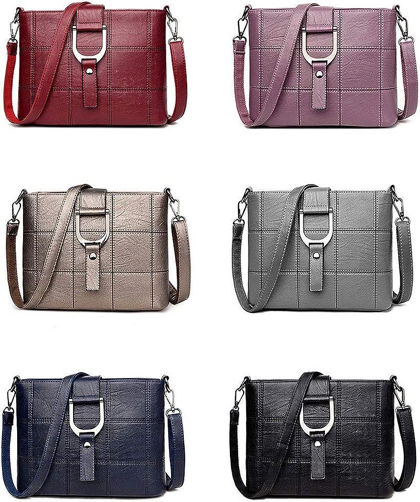 JAGENIE Womens Retro Shoulder Bag PU Leather Messenger Crossbody Sling Handbag Tote Satchel Purse