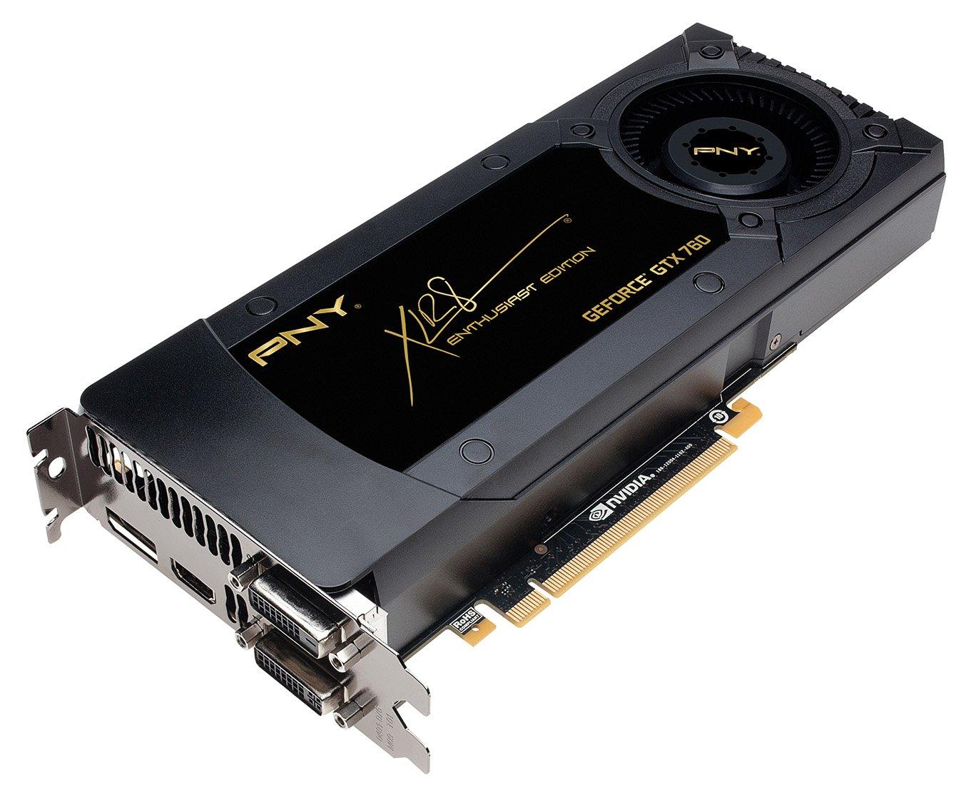 PNY GeForce GTX 760 - Tarjeta gráfica de 2 GB (GeForce GTX 760, 4096x2160, GDDR5, HDMI)