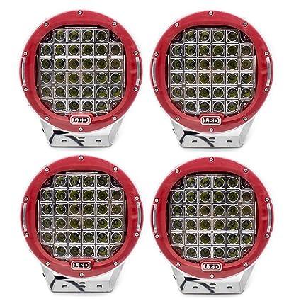 FUSKANG 160W Luz de Trabajo LED de 9 Pulgadas 32 Cuentas de Luz ...