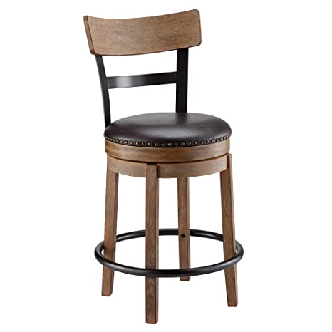 Remarkable Ball Cast Swivel Counter Stool 24 Inch Seat Height Light Brown Onthecornerstone Fun Painted Chair Ideas Images Onthecornerstoneorg