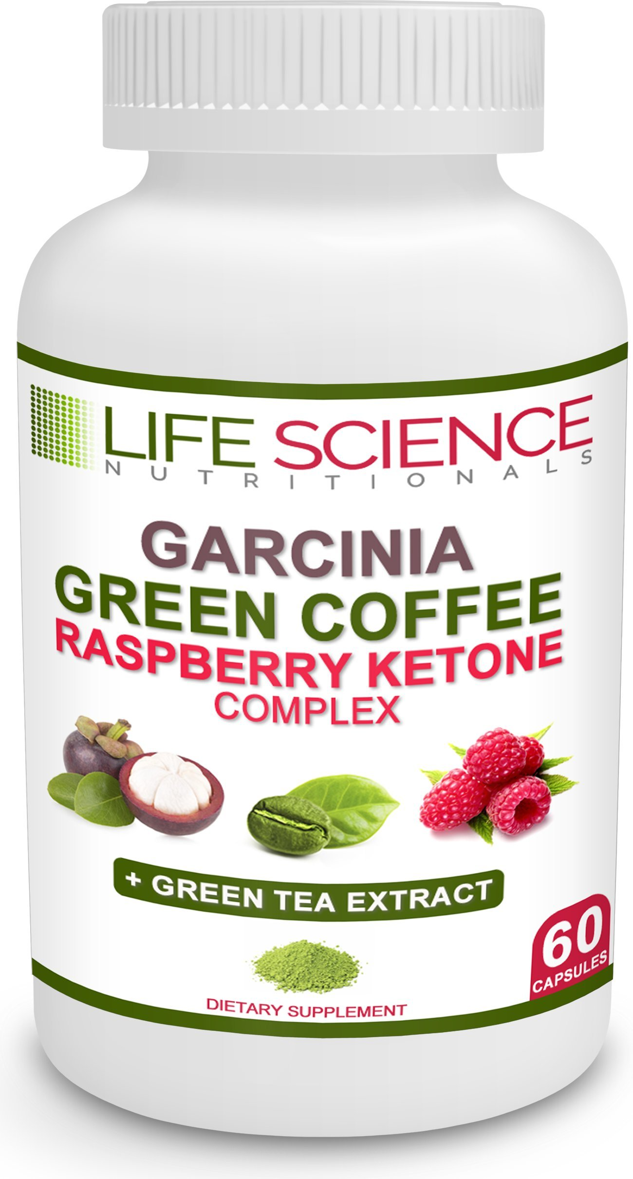The Original 4-in-1 Garcinia Cambogia, Green Coffee Bean, Raspberry Ketones & Green Tea Extract 1300mg Dr. Recommended for Fat Burn, Weight Loss & Appetite Suppressant (60 Caps, 4 oz) by Life Science Nutritionals (Image #6)