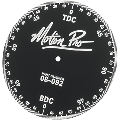 Motion Pro Engine Timing Degree Wheel Anodized Aluminum: Automotive