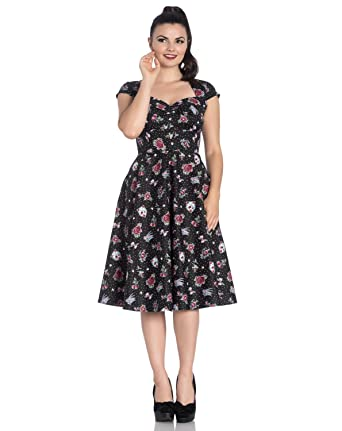 2278466f5fb1 Hell Bunny Pinup 50s Dress Rockabilly Cherry Swallow Stevie Tattoo All  Sizes: Amazon.co.uk: Clothing