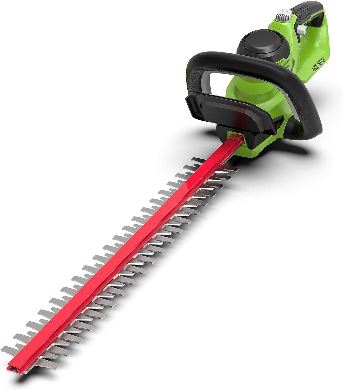 Greenworks Tools 062200907 Cortasetos Batería, 40 V, Verde