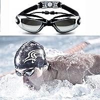 XSRTT Gafas de Natación con Enchufe de Oído, Protección UV y Recubrimiento Anti Niebla Lente, Ajustable, Swimming Glasses para Hombres Mujeres, Adultos, Niños de la Juventud, Niño
