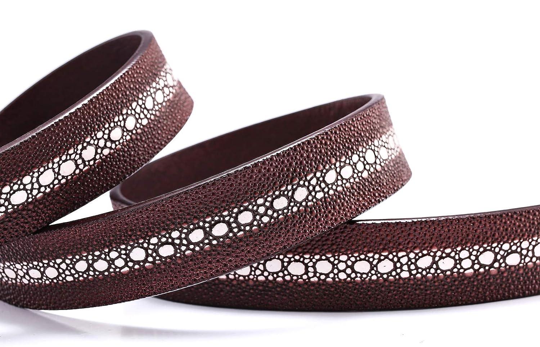 WL Mens Automatic Buckle Leather Belt Belt Fashion Casual Belt