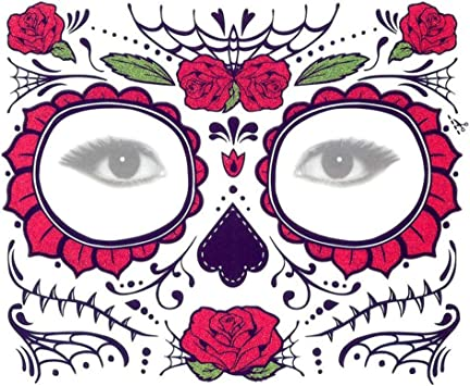 Xuxuou 15*25cm Facial Tatuaje Diseños Impermeables de ...