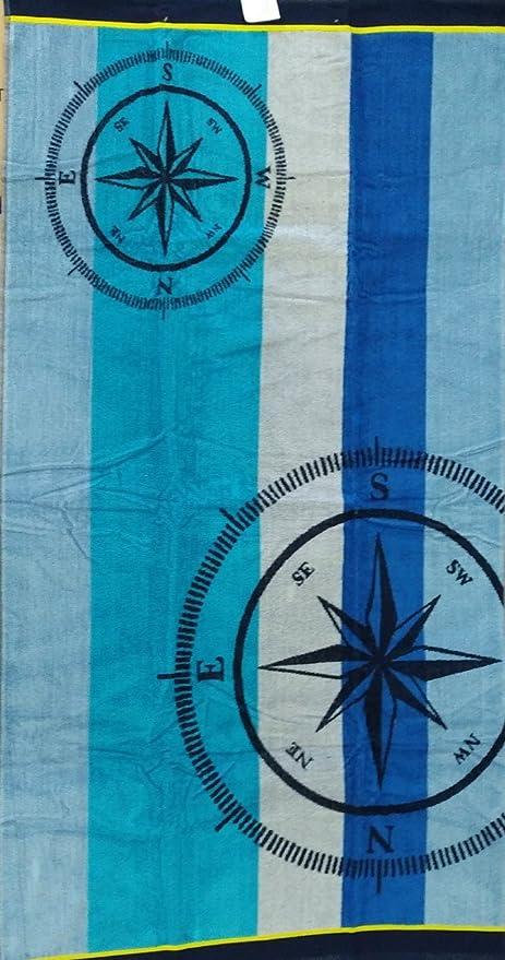 Ambiance Jumbo - Toalla de playa (100% algodón egipcio, 90 x 170 cm