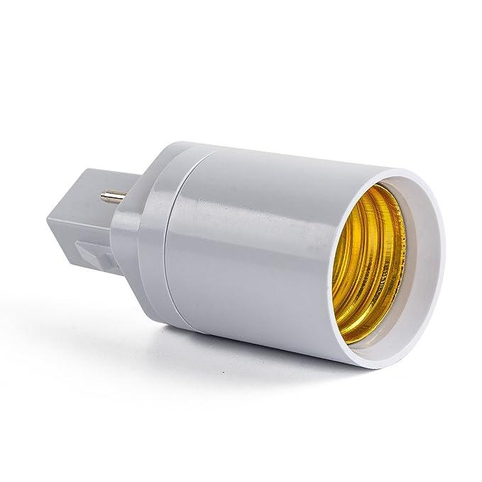 AWE-LIGHT Convertidor Adaptador de Bombilla Lampara LED G24 a E27 Base Enchufe de Tornillo, 6 unidades: Amazon.es: Bricolaje y herramientas