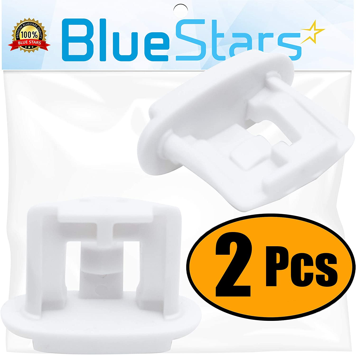 Ultra Durable WD12X10304 Dishwasher Upper Rack Slide End Cap Replacement Part by Blue Stars – Exact Fit For GE & Kenmore Dishwashers - Replaces AP4484666 WD12X344 - PACK OF 2