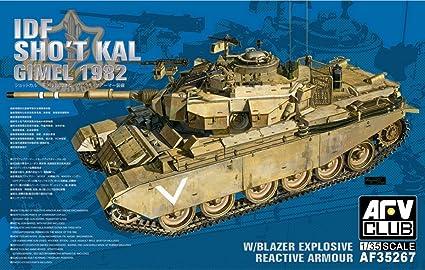 Amazon Com Afv Club 1 35 Idf Sho T Kal Gimel 1982 Af35267 Toys Games