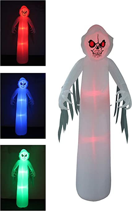 Amazon.com: Monstruo de fantasma hinchable de Halloween con ...