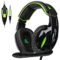 SUPSOO G813 Over-Ear 3.5mm Wired Gaming Headphones for New Xbox One/PC/Mac/ PS4/Table/Phone (Black&Green)