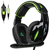 Amazon Price History for:SUPSOO G813 Xbox one Gaming Headset 3.5mm Stereo Wired Over Ear Gaming Headset with Mic&Noise Cancelling & Volume Control for New Xbox One/PC/Mac/PS4/Table/Phone (Black&Green)