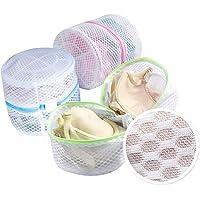 homyfort Bra Wash Bag, Mesh Laundry Bag for Lingerie, Delicates, Intimates, Underwear, Socks, Tights, with Premium Net Sturdy Zipper Set of 3