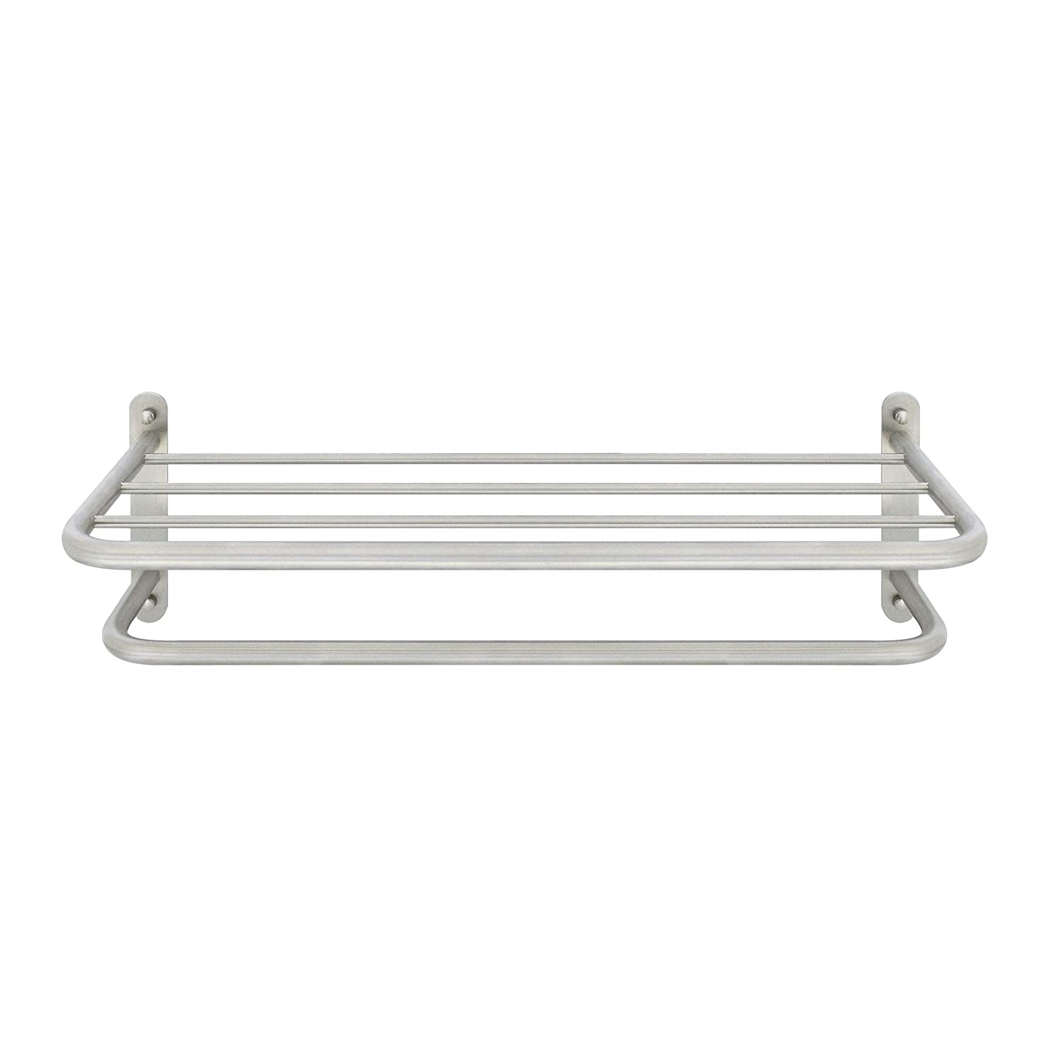 """Solid ONE-Piece MODONA 24/"""" Hotel Grade Towel Rack Polished Chrome Stainless Steel SS304"""
