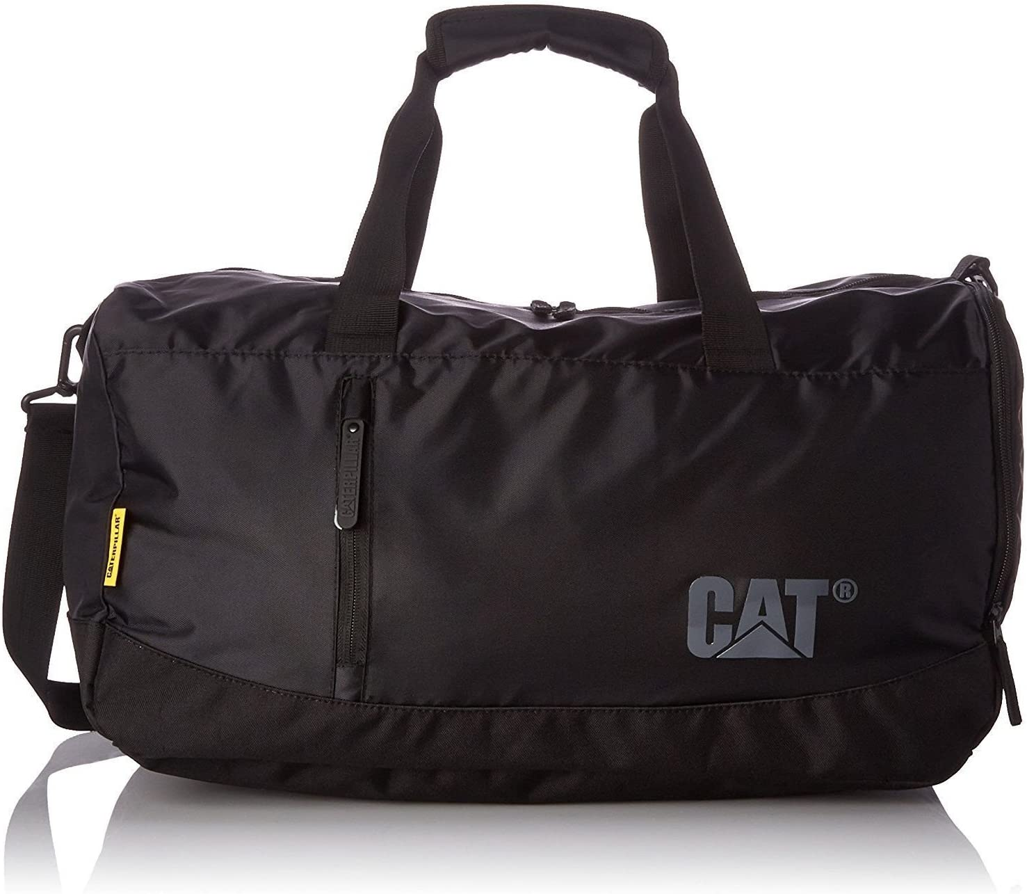 Black Silhouette Of Cat With Foot Track Weekender Bag Travel Duffel Bag for Weekend Overnight Trip