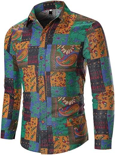 GNYD Camiseta Hombre Sudadera Chaqueta Manga Larga OtoñO Invierno Casuales,ImpresióN éTnica del Ocio del Negocio - Blusa Superior De La Camisa con Mangas: Amazon.es: Ropa y accesorios