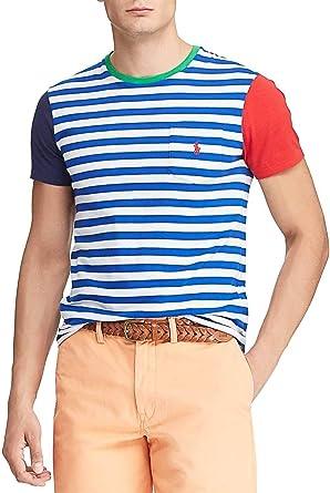 Polo Ralph Lauren Camiseta Pocket Listas Hombre XXL: Amazon ...