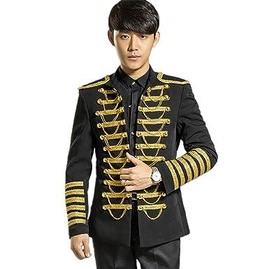 411f4805d5c MYS Men's Royal Gold Chain Party Tuxedo Jacket and Pants Set Black Size 38R