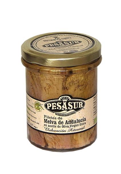 Melva de Andalucía PESASUR Aceite de Oliva Virgen Extra Ecológico Tarro Vidrio [Pack 2 ud