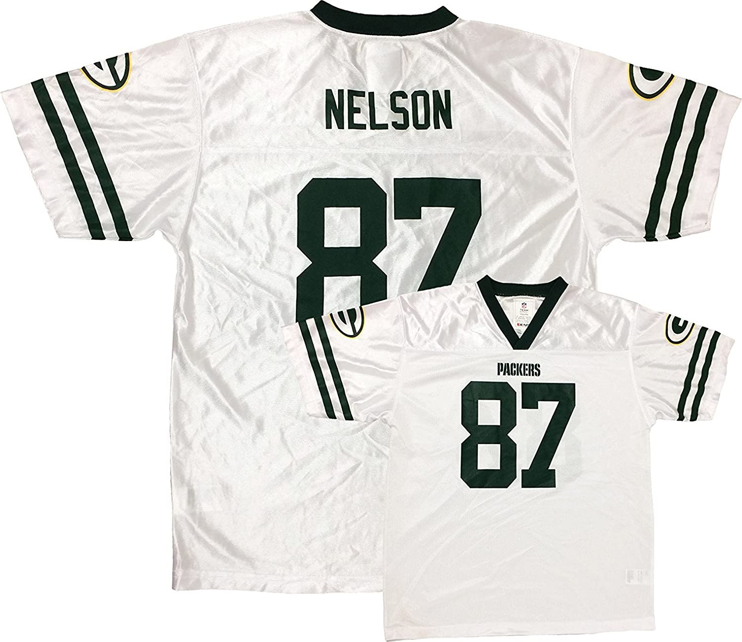 buy popular 82def f6601 OuterStuff Jordy Nelson Green Bay Packers Youth White Away ...