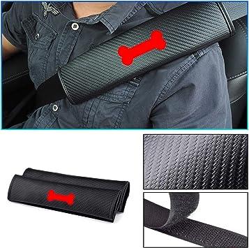 2pcs Car Seat Belt Cover Shoulder Pads For Subaru Impreza Forester Tribeca XV BRZ,Carbon Fiber Seat Belt Shoulder Guards,Auto Interior.