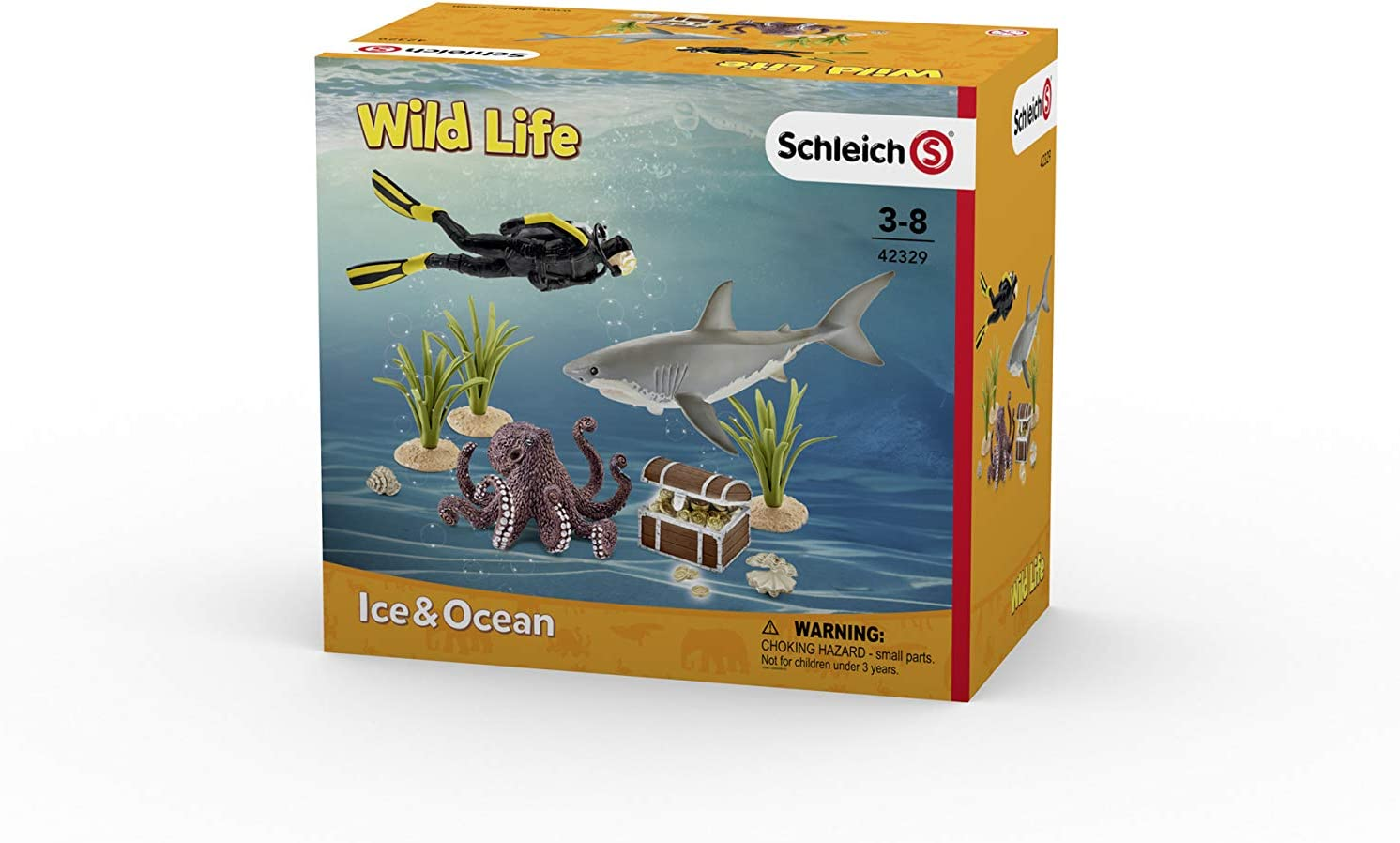 SCHLEICH 42329 Treasure Hunt Diver Toy Figure